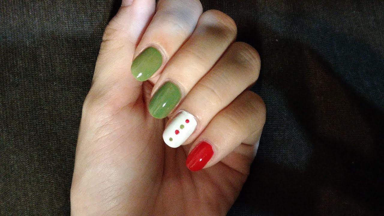 【月兔指彩】聖誕節風快速指甲彩繪 Simple Christmas Nails