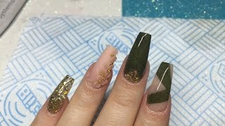 Acrylic Nails | Not Polish Design | Khaki Nails | CLOSED