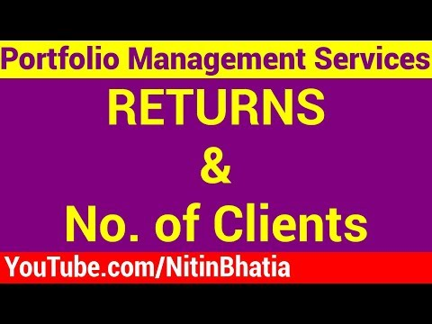 Portfolio Management Services India - Returns and No of Clie