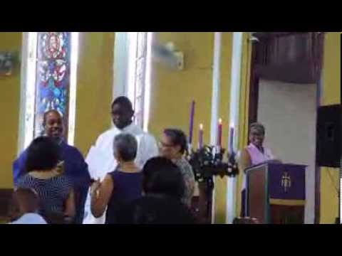 Mass at Holy Cross Church, Kingston, Jamaica