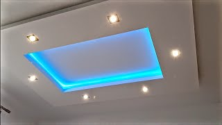 How easy to make gypsum plasterboard ceiling box ,, with minimum of gypsum''