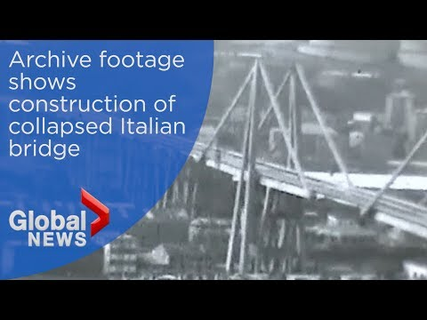 Italy bridge collapse: Archive footage of overpass' construction
