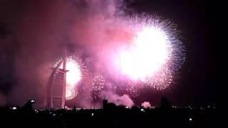 BURJ AL ARAB, NEW YEAR 2017 FIREWORKS, DUBAI UAE JUMERIAH BURJ KHALIFA