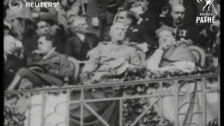 ITALY FOOTBALL SOCCER Spain v Italy watched by Italian and Spanish royals 1927