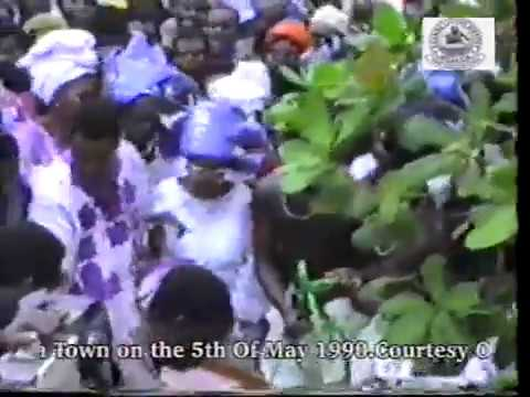 Final Burial of Chief Hubert Ogunde at his house in Ososa Town on the 5th Of May 1990