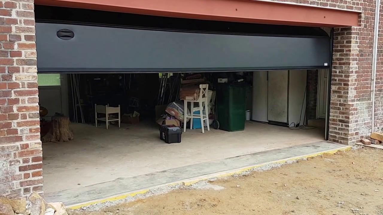 78 r alisation porte de garage sectionnelle grande largeur youtube