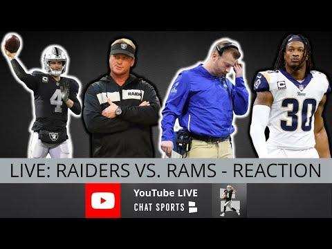 Raiders Vs. Rams Live Stream Reaction & Updates On Highlights From NFL Preseason Week 1