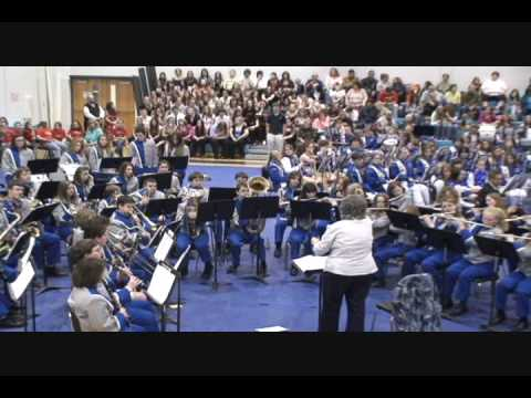 Philippi Middle School Band Performs Shaker Variants