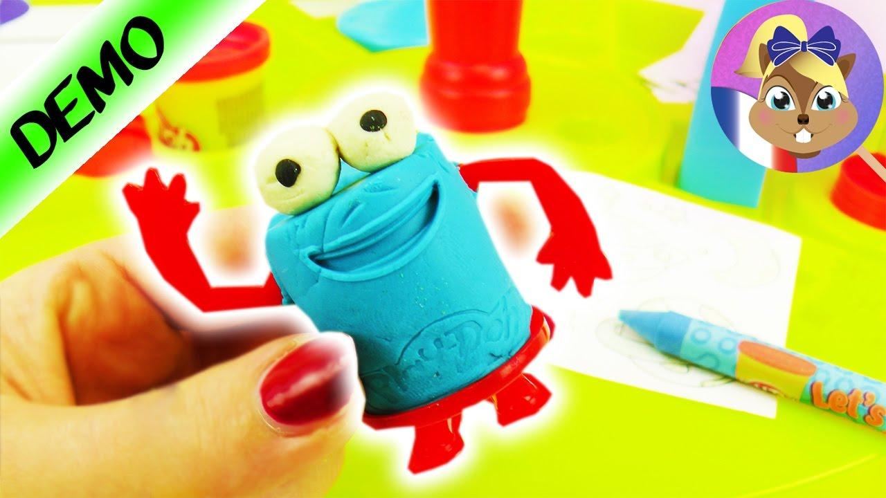 Figurine rigolote en pâte à modeler PLAY-DOH à faire soi-même | DOH - DOH Tête en forme de boîte ...