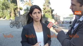 Virginia Raggi commemora Falcone e Borsellino