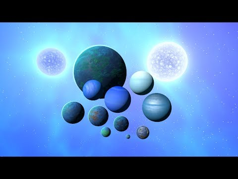 Making A Solar System Out Of Blue Objects, Universe Sandbox ²