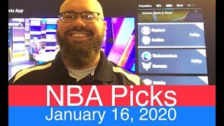 Nba Picks  1-16-20  | Pro Basketball Expert Predictions & Daily Betting Lines | Vegas Odds Analysis