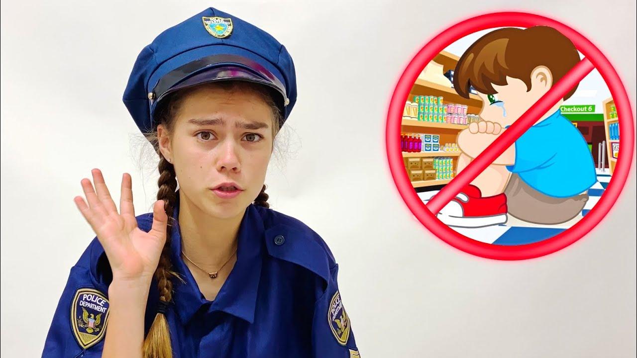 Настя учит Мию правилам поведения в магазине | Настя Артем Мия
