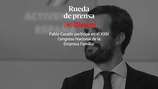 🔴 DIRECTO | Comparecencia de Pablo Casado donde dará su primera reacción al nuevo estado de alarma