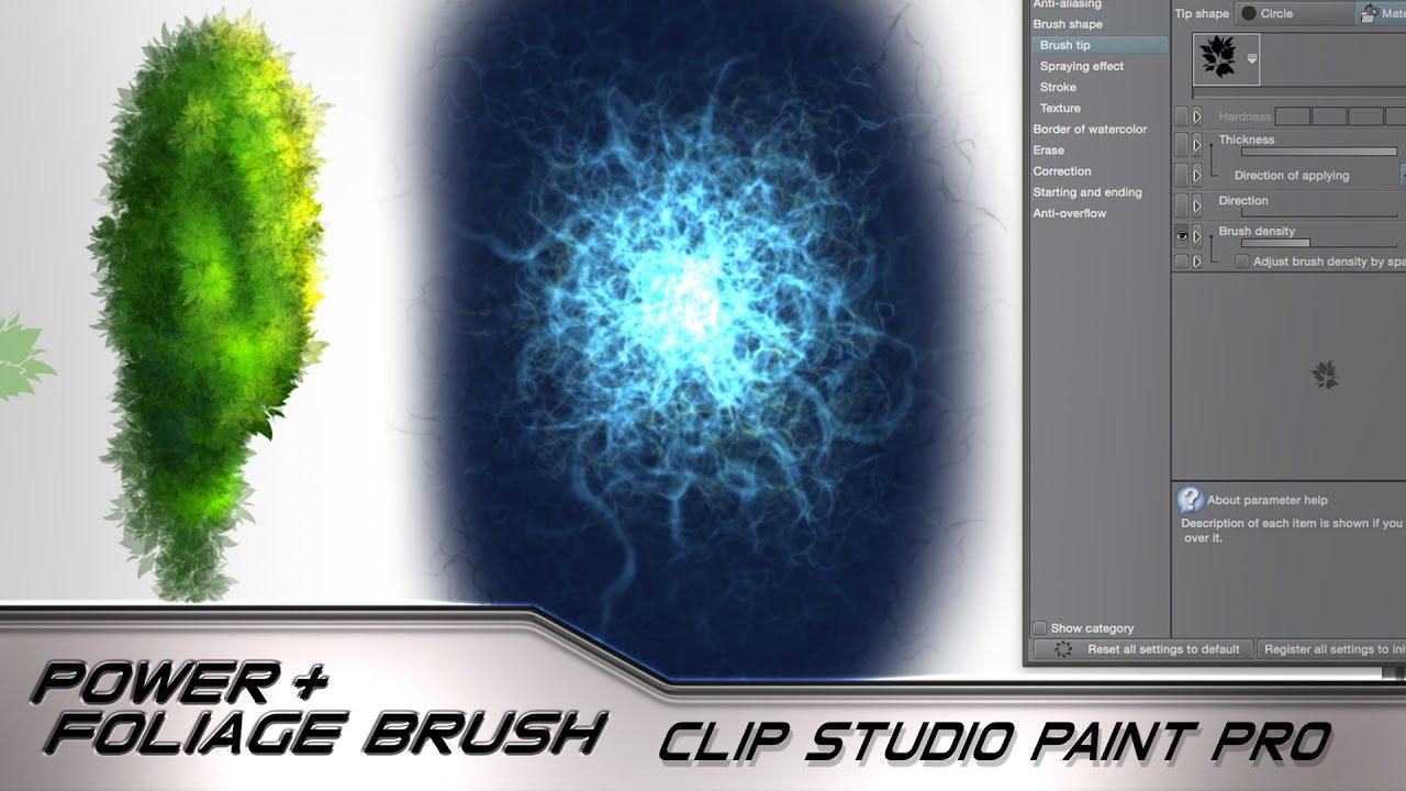 reset tools clip studio paint