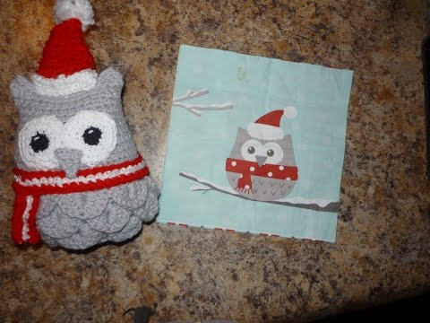 Crochet, Owl (Christmas Version)