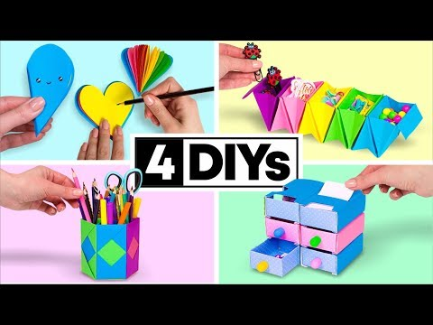 4 DIY You Can Make in 5 MINUTES! DIY SCHOOL SUPPLIES
