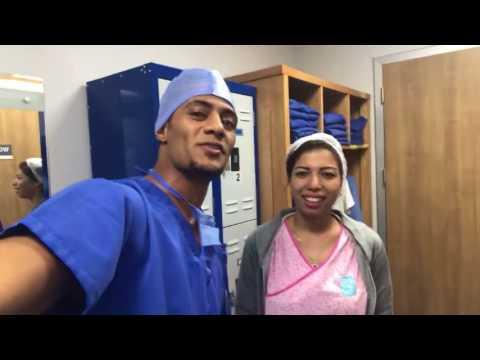 أول فيديو للفنان محمد رمضان وزوجته وطفلته كنز في غرفة العمليات
