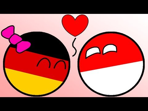 Poland And Germany Love Countryballs Animation Youtube