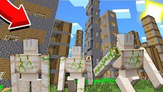 ГОЛЕМЫ НАПАЛИ НА ДЕРЕВНЮ НЕБОСКРЕБОВ В МАЙНКРАФТ 100% Троллинг Ловушка Minecraft Топовский