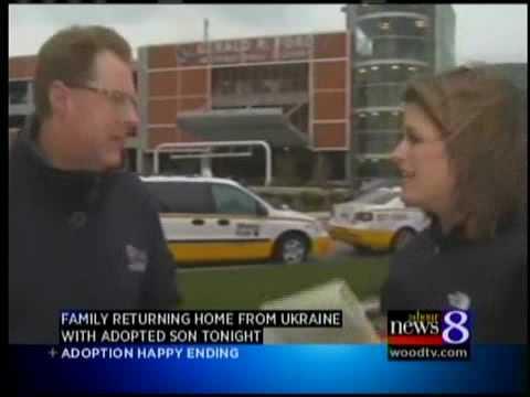 Family returns home from Ukraine