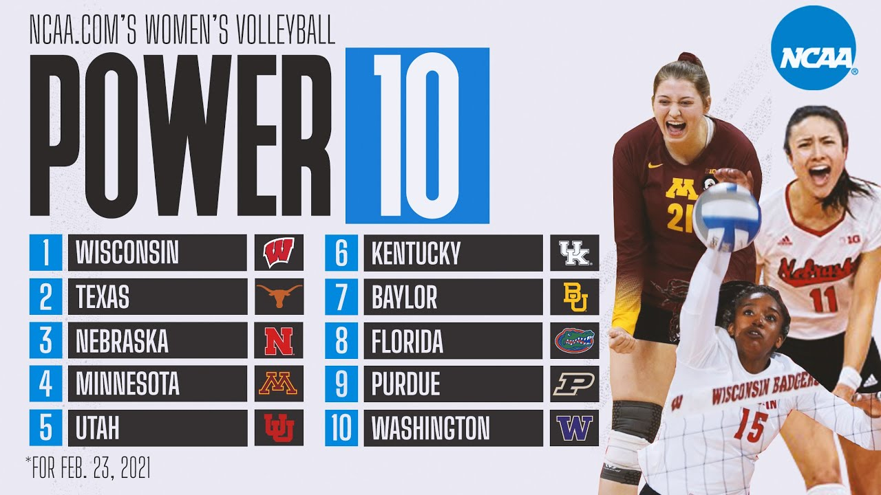 College volleyball rankings: Big Ten dominates in latest Power 10