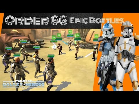 Star Wars Galaxy Of Heroes Zeta Fives & Cody Vs Chaze Rebel Team & Qgj Zeta with GK Team