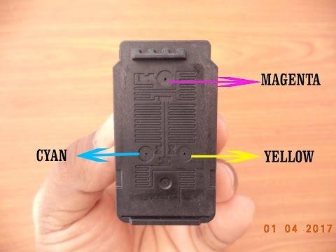 how to refill canon E410 colour cartridge
