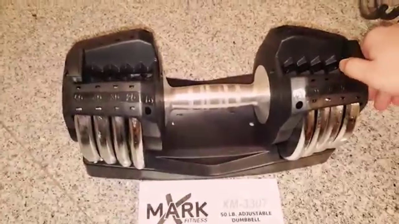 Ordinaire X Mark 50lb Adjustable Dumbbell   YouTube