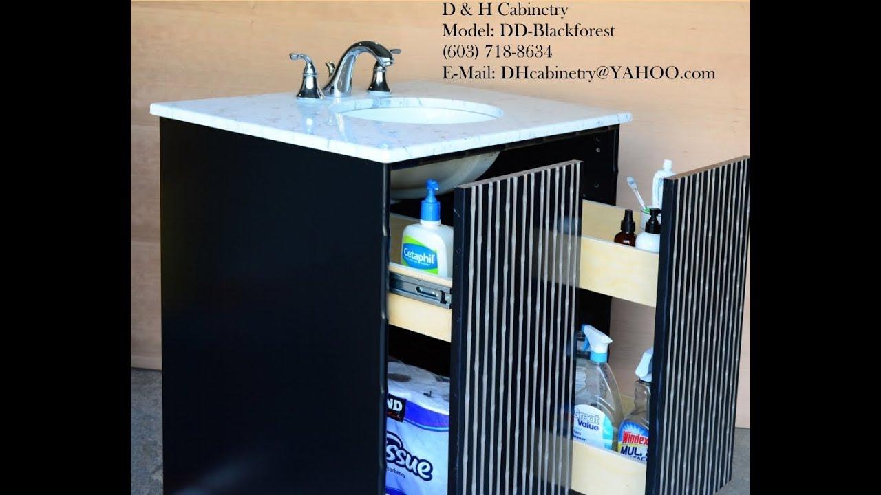 22 30 36 Modern Black Bathroom Vanity  Modern Bathroom