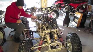 Honda trx450 engine removal tutorial (part 1)