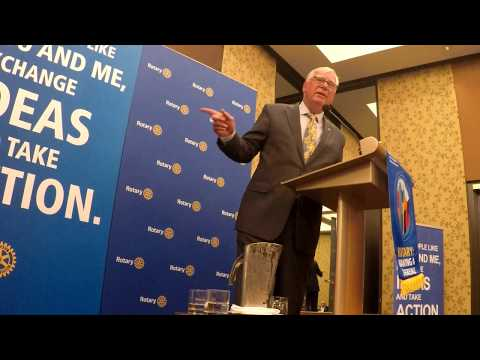 Rotary President Ian Riseley Visit to our Rotary District 9550