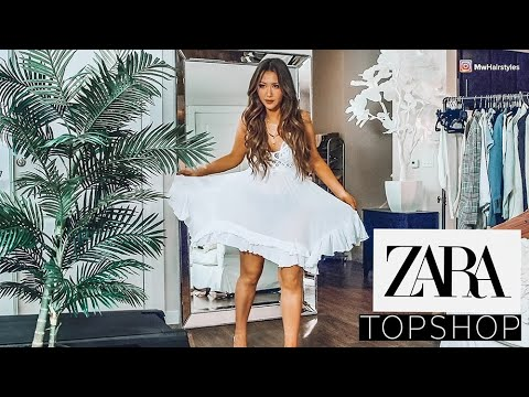 🌸 HUGE ZARA TOPSHOP HAUL & TRY-ON 2019 🌸 SPRING-SUMMER OUTFIT IDEAS