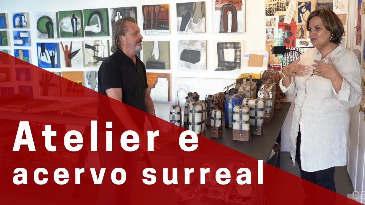 Atelier incrível e acervo surreal do multifacetado Marco Túlio Resende