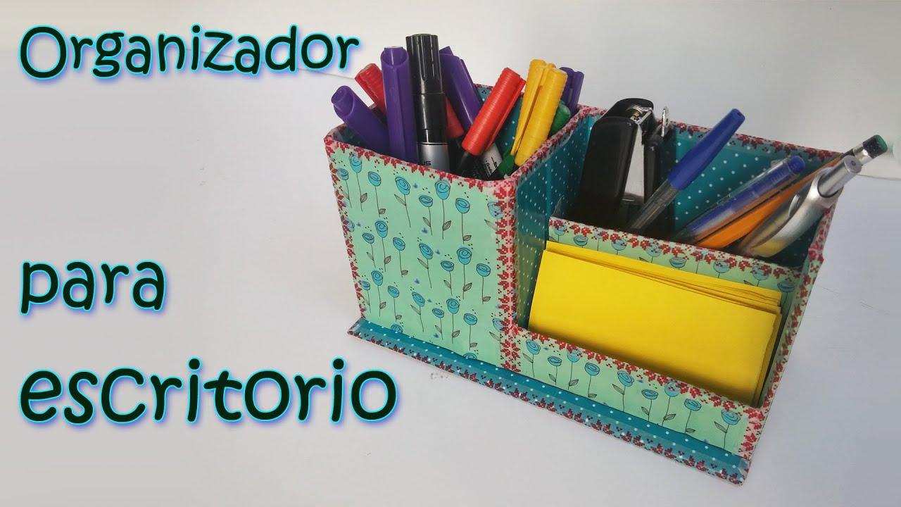 Organizador para escritorio manualidades para todos - Manualidades en reciclaje de carton ...