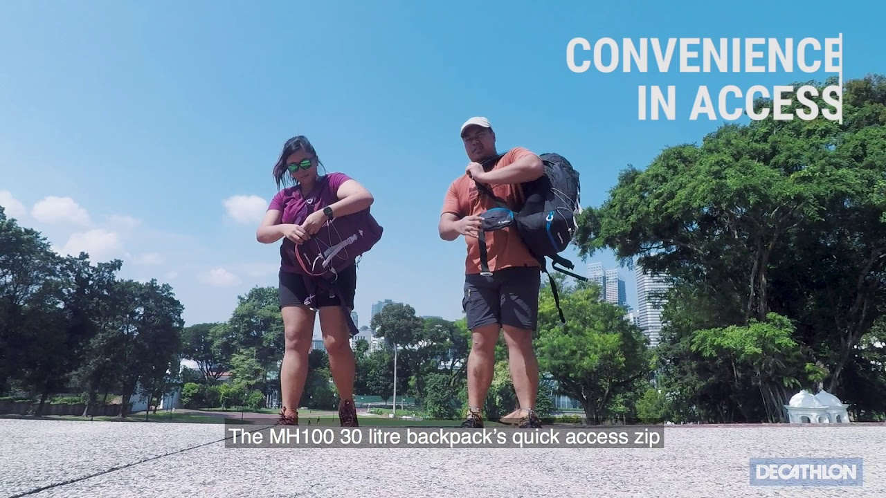 3506a345d25e2 Decathlon MH100 30L Hiking Backpack review - YouTube