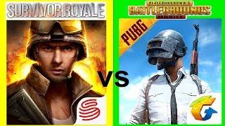 Survivor Royale vs PUBG Mobile | Gameplay Comparison screenshot 4