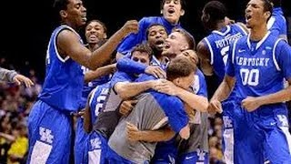 3-30-2014 Kentucky vs Michigan Aaron Harrison Makes Game Winning Three March Madness Elite Eight!