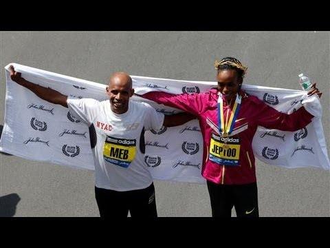 Meb Keflezighi, Rita Jeptoo Win Boston Marathon