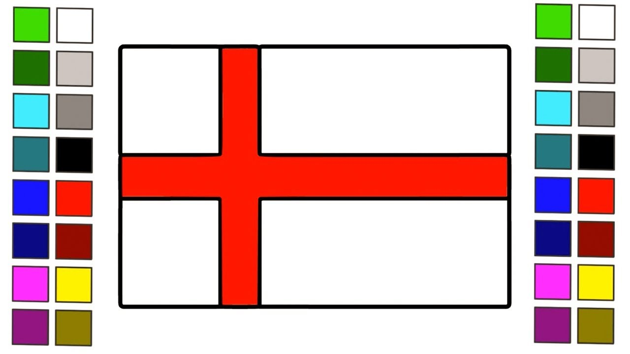 how to draw british flag how to draw england flag for kids step