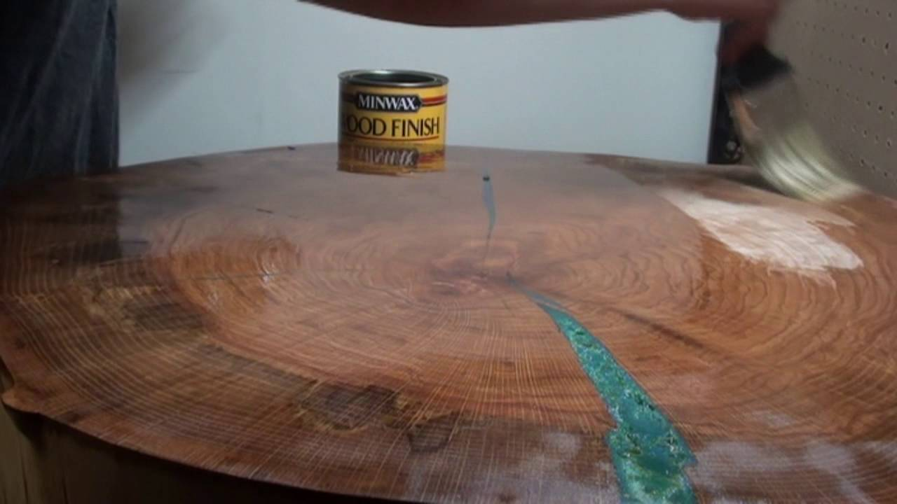 Custom Wood Table Color Epoxy Inset Process  YouTube