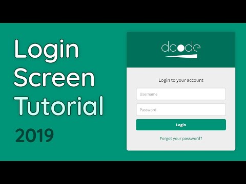 How to create a Login Form - HTML & CSS Tutorial (Web Design/UX) thumbnail
