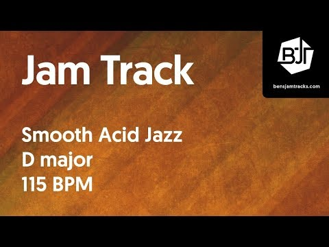 Smooth Acid Jazz Jam Track in D major 115 BPM