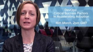 Join us for the IDC DevOps Conference and Complimentary Webinar