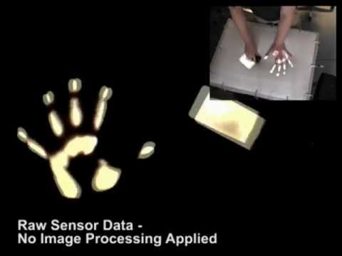Interactive Multi-touch  Table using a DIY Pressure-sensitive Liquid Displacement Sensor
