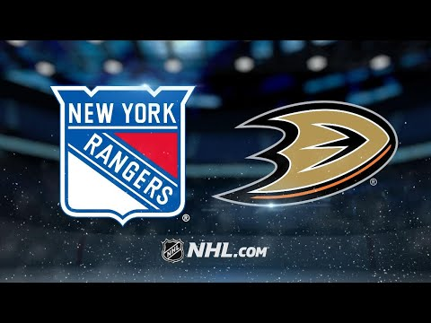 Ducks ride big 1st period to 6-3 win against Rangers
