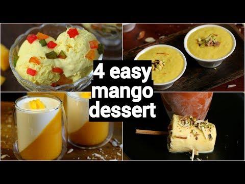 4 easy mango dessert recipes | mango summer dessert ideas | mango recipes