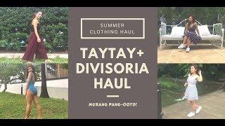 TAYTAY AND DIVISORIA HAUL (PANG OOTD NA!)