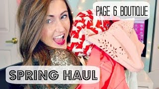 Early Spring Fashion Haul 2014 ❤ Boutique Clothing from Page 6!