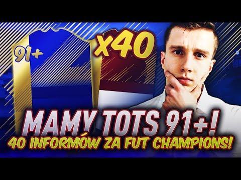 TRAFIŁEM TOTS 91+! PACZKI Z 40x CZERWONE IN FORM! NAGRODY MIESIĘCZNE FUT CHAMPIONS! FIFA 18!